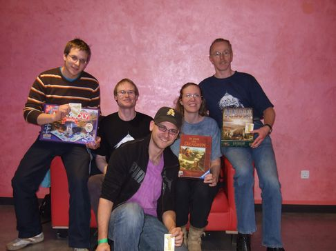 Johannes, Thomas, Andreas, Alexa, Gerd (left to right)